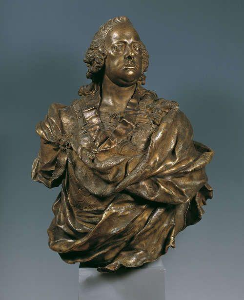 Franz Xaver Messerschmidt, Franz I. Stephan, 1760, Bronze, feuervergoldet, 100 × 80 × 50 cm © Belvedere, Wien