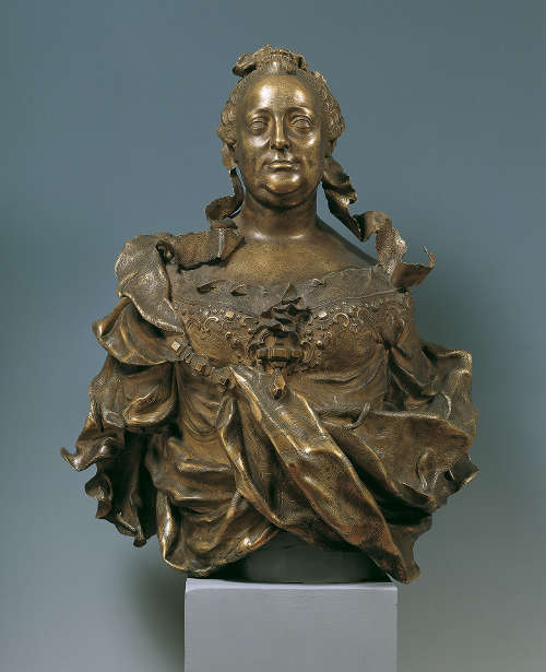 Franz Xaver Messerschmidt, Maria Theresia, 1760, Bronze, feuervergoldet 90 × 75 × 55 cm © Belvedere, Wien