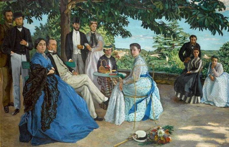 Frédéric Bazille, Das Familientreffen, Detail, 1867, Öl auf Leinwand, 152 x 230 cm (Paris, Musée d'Orsay © Photo Musée d'Orsay, Dist. RMN-Grand Palais / Patrice Schmidt)
