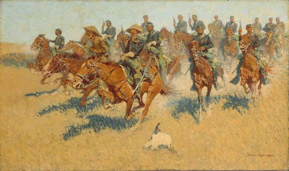 Frederic Remington, On the Southern Plains, 1907, Öl/Lw, 76.5 x 129.9cm (The Metropolitan Museum of Art, New York, Gift of Several Gentlemen, 1911)