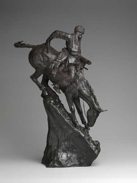 Frederic Remington, The Mountain Man, 1903, Guß März 1907, Bronze, 70.5 x 30.5 x 25.4 cm (The Metropolitan Museum of Art, New York, Rogers Fund, 1907)
