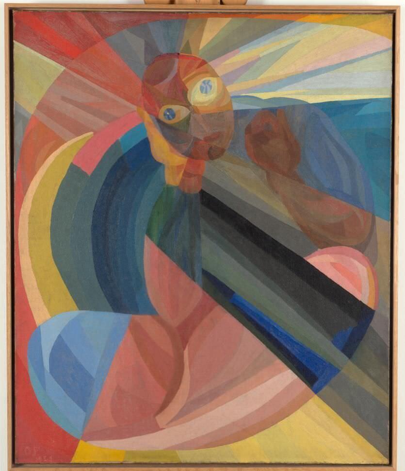 Otto Freundlich, Die Mutter, 1921, Öl auf Leinwand (Nessel), 120 x 100 cm (Berlinische Galerie, Berlin), Foto: Kai-Annet Becker/ Berlinische Galerie, Landesmuseum für Moderne Kunst, Fotografie und Architektur