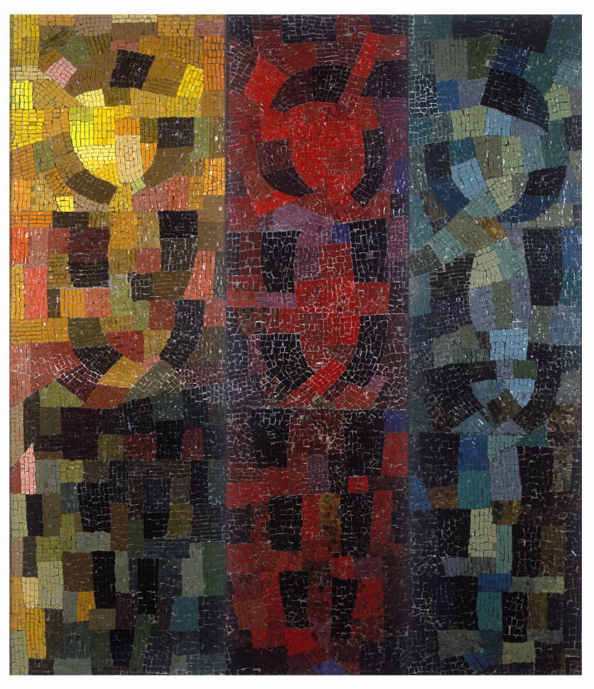 Otto Freundlich, Hommage aux peuples de couleur, 1938, Mosaik 175 x 156,5 cm (Musées de Pontoise), Foto: Donation Freundlich - Musées de Pontoise