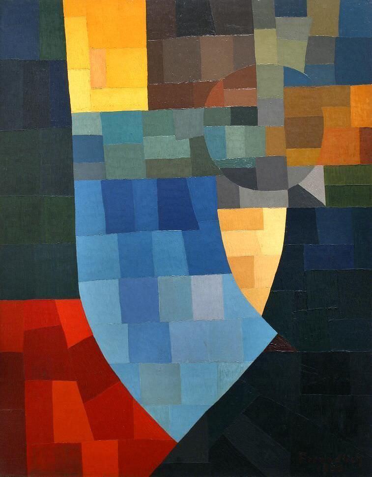 Otto Freundlich, Komposition, 1930, Öl auf Leinwand, auf Sperrholz aufgezogen, 147 x 113 cm (Musées de Pontoise), Foto: Donation Freundlich - Musées de Pontoise