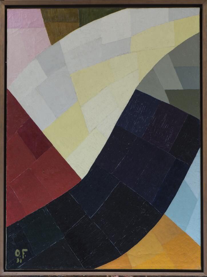 Otto Freundlich, Komposition, 1931, Öl auf Leinwand, 81 x 60 cm (Von der Heydt-Museum Wuppertal), Foto: Medienzentrum, Antje Zeis-Loi