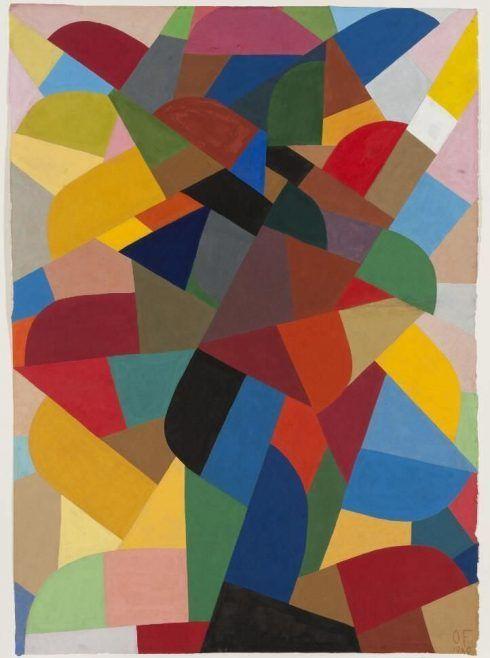 Otto Freundlich, Komposition, 1940, Gouache auf Papier, 84 x 60 cm (Wilhelm-Hack-Museum, Ludwigshafen), Foto: Wilhelm-Hack-Museum / Joachim Werkmeister