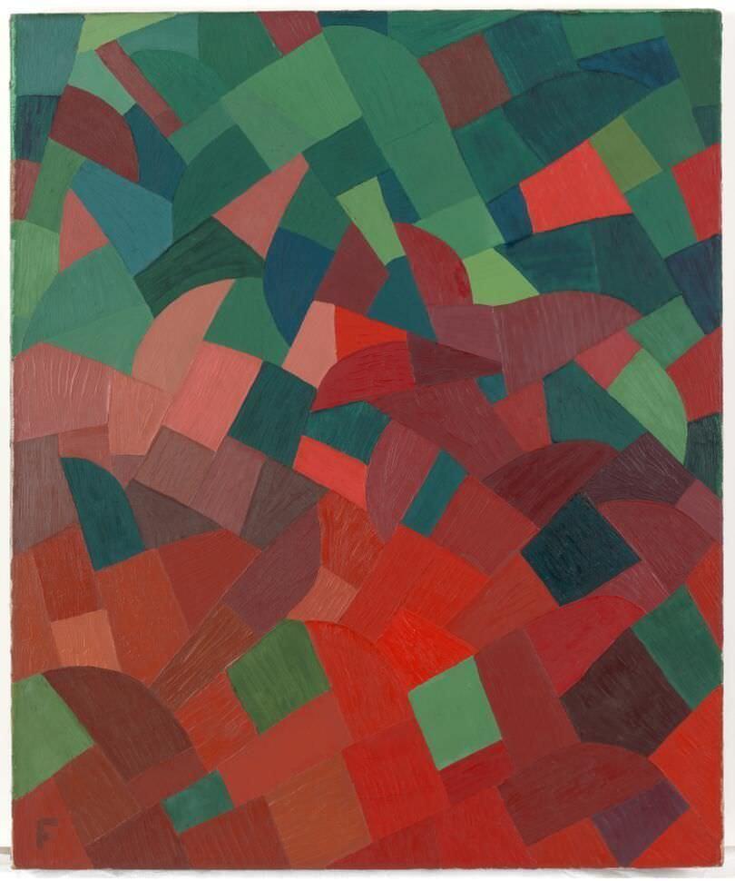 Otto Freundlich, Komposition Rot-Grün, 1939, Öl auf Leinwand, 65 x 54,5 (Museum Ludwig, Köln), Foto: Rheinisches Bildarchiv Köln