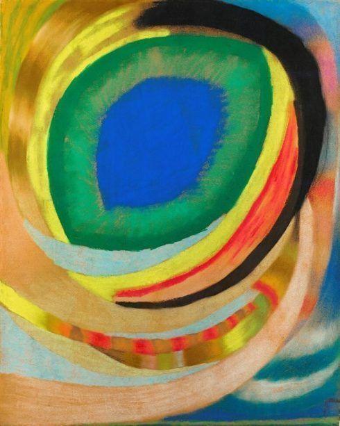 Otto Freundlich, Kosmisches Auge, 1921/22, Pastell auf Karton, 81 x 65 cm (Privatsammlung, Paris, Courtesy Applicat-Prazan), Foto: Applicat-Prazan, Paris