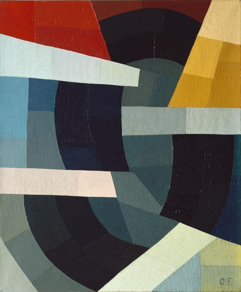 Otto Freundlich, Kräfte, 1934, Öl auf Leinwand, 64 x 53 cm (Museum moderner Kunst Stiftung Ludwig Wien), Foto: Museum moderner Kunst Stiftung Ludwig Wien