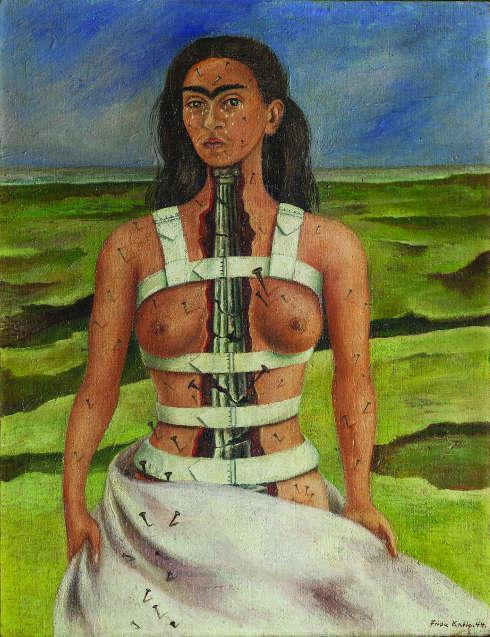 Frida Kahlo, Die zerbrochene Säule, 1944, Öl auf Leinwand (Museo Dolores Olmedo, Mexiko-Stadt)