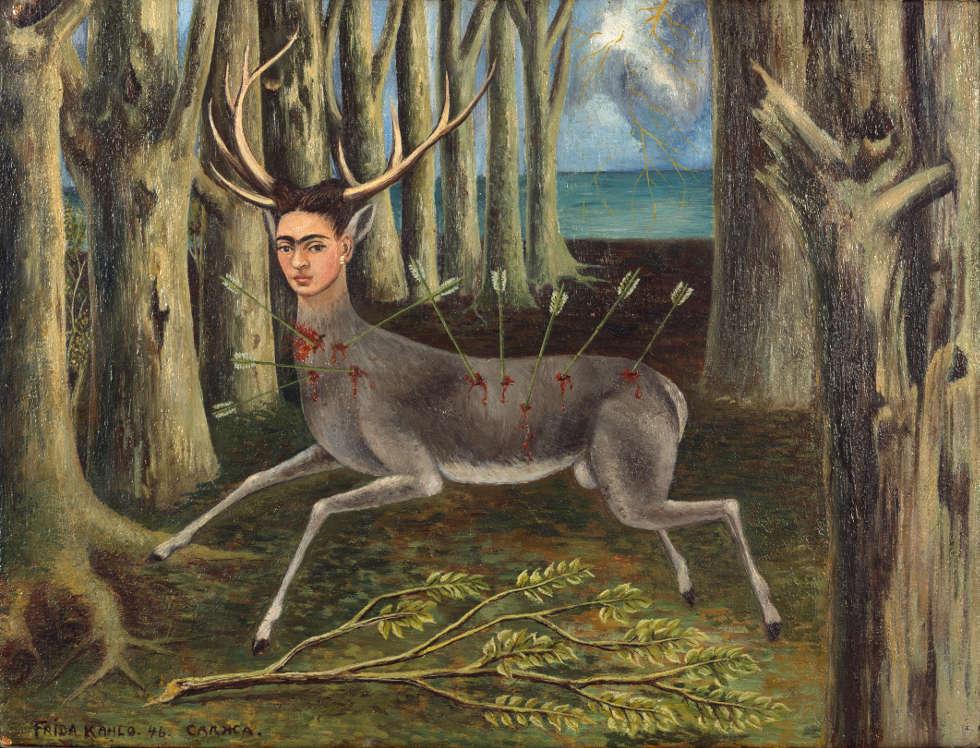 Frida Kahlo, The little Deer, 1946, Öl/Masonit, 22.5 x 30.3 cm (Privatbesitz © Banco de México Diego Rivera Frida Kahlo Museum Trust / VG Bild-Kunst, Bonn 2018, Foto: Nathan Keay, © MCA Chicago)