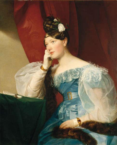 Friedrich Amerling, Julie Gräfin Woyna, 1832, Öl/Lw (Neue Galerie Graz, Universalmuseum Joanneum, Foto: Universalmuseum Joanneum/N. Lackner)