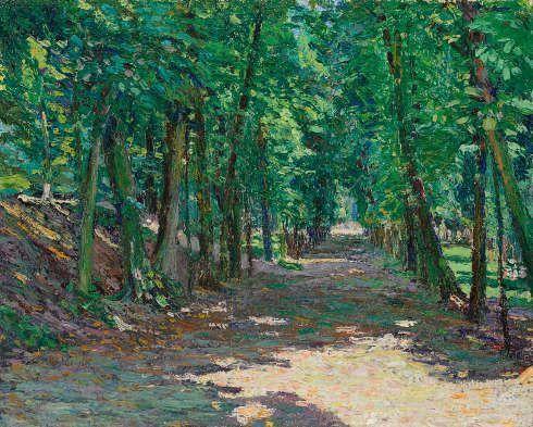 Gabriele Münter, Allee im Park von Saint-Cloud, 1906, Städtische Galerie im Lenbachhaus und Kunstbau München © VG Bild-Kunst, Bonn 2020