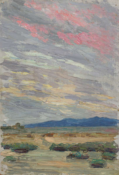 Gabriele Münter, Landschaft bei Rapallo, 1906, Städtische Galerie im Lenbachhaus und Kunstbau München © VG Bild-Kunst, Bonn 2020
