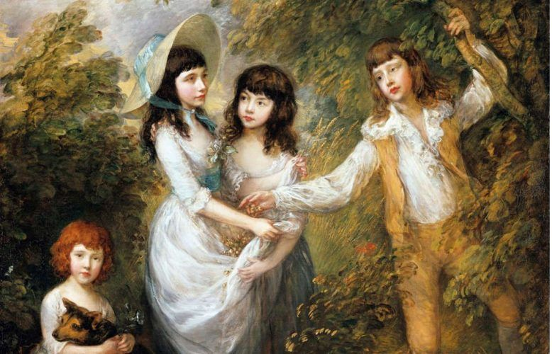 "Thomas Gainsborough, Amelia Charlotte, Frances, Harriot und Charles Marsham (""Die Marsham- Kinder""), Detail, 1787, Öl/Lw, 242,9 x 181,9 cm (Staatliche Museen zu Berlin, Gemäldegalerie © bpk / Gemäldegalerie, SMB / Jörg P. Anders)"