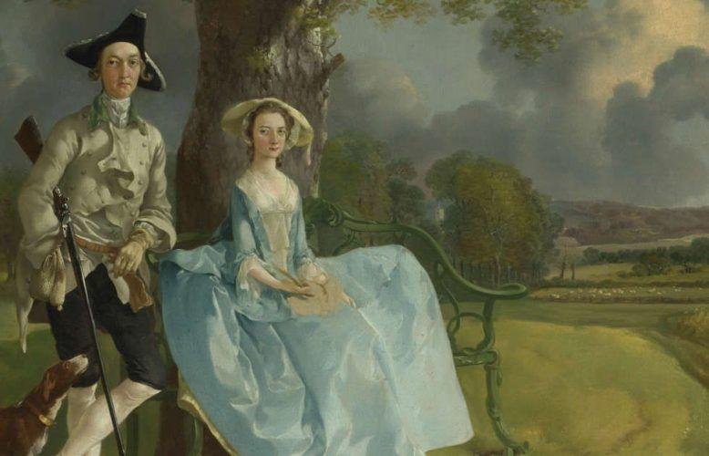 "Thomas Gainsborough, Robert und Frances Andrews (""Mr. und Mrs. Andrews""), Detail, um 1750, Öl/Lw, 69,8 × 119,4 cm (London, The National Gallery © The National Gallery, London)"