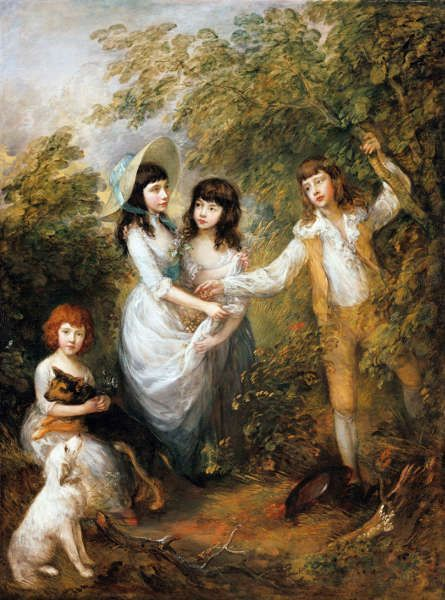 "Thomas Gainsborough, Amelia Charlotte, Frances, Harriot und Charles Marsham (""Die Marsham- Kinder""), 1787, Öl/Lw, 242,9 x 181,9 cm (Staatliche Museen zu Berlin, Gemäldegalerie © bpk / Gemäldegalerie, SMB / Jörg P. Anders)"