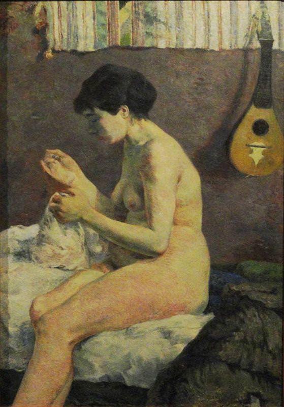 Paul Gauguin, Aktstudie, 1880, Öl auf Leinwand, 115 x 80 cm (Ny Carlsberg Glyptothek, Kopenhagen)