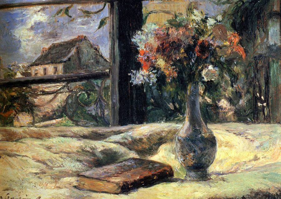 Paul Gauguin, Am Fenster, Stillleben, 1881, Öl auf Leinwand, 19 x 27 cm (Musée des Beaux-Arts de Rennes)