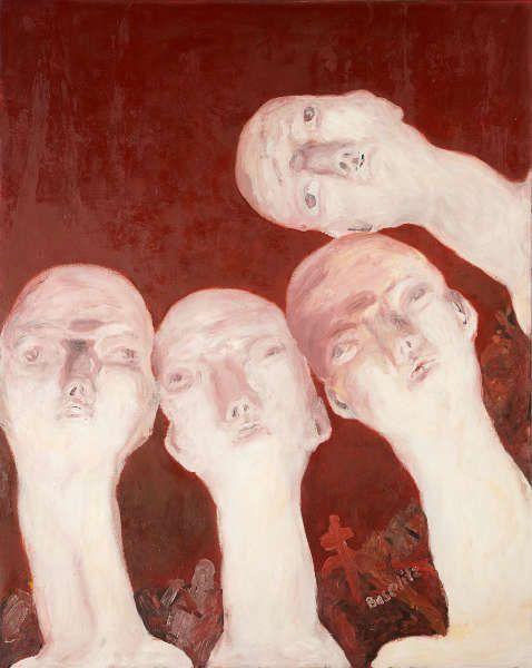 Georg Baselitz, Oberon (1. Orthodoxer Salon 64 ‒ E. Neijsvestnij), 1964, Öl auf Leinwand, 250 x 200 cm (Städel Museum, Frankfurt am Main, © Georg Baselitz, 2018, Foto: © Städel Museum – ARTOTHEK)