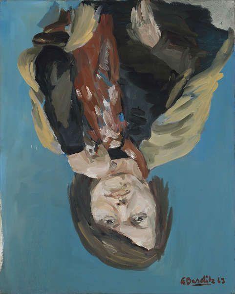 Georg Baselitz, Porträt Elke I, 1969, Dispersionsfarbe auf Leinwand, 162 x 130 cm (Privatbesitz © Georg Baselitz, 2018, Foto: Jochen Littkemann, Berlin)