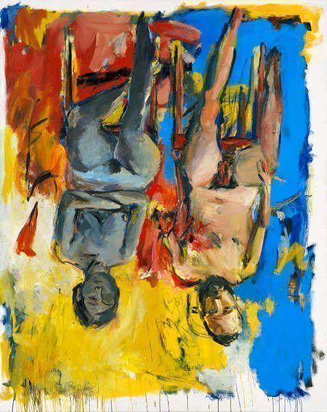Georg Baselitz, Schlafzimmer, 1975, Öl und Kohle/Lw, 250 x 200 cm (Privatbesitz, © Georg Baselitz, 2018, Foto: Jochen Littkemann, Berlin)