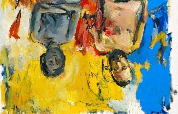 Georg Baselitz, Schlafzimmer, Detail, 1975, Öl und Kohle/Lw, 250 x 200 cm (Privatbesitz, © Georg Baselitz, 2018, Foto: Jochen Littkemann, Berlin)