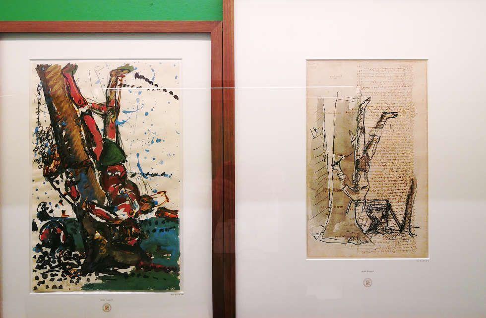 Georg Baselitz in der Pinakothek der Moderne, München (Staatliche Graphische Sammlung München), Foto: ARTinWORDS, Alexandra Matzner.
