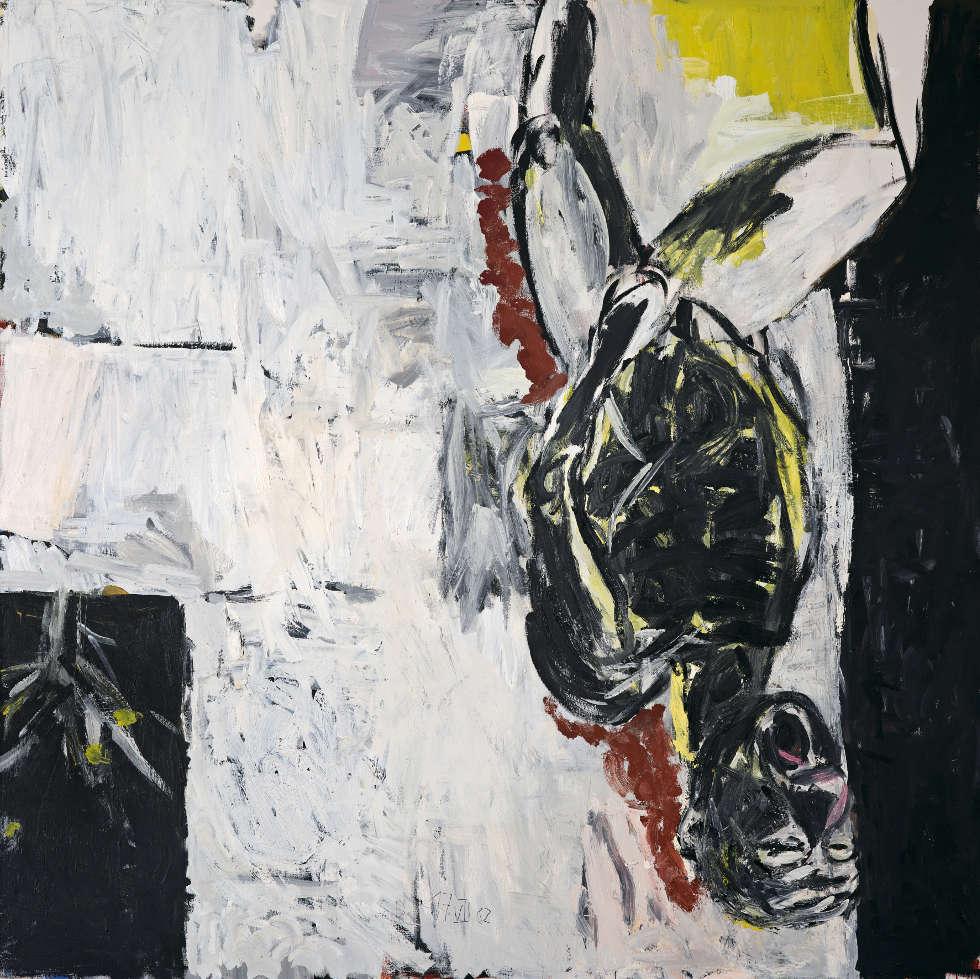 Georg Baselitz, Weg vom Fenster, 1982, Öl/Lw, 250 x 250 cm (Fondation Beyeler, Riehen/Basel, Sammlung Beyeler, © Georg Baselitz, 2018)