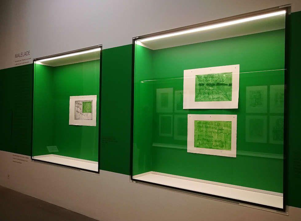 Im Blick: Georg Baselitz zum 80. Geburtstag in der Pinakothek der Moderne (Staatliche Graphische Sammlung München), Foto: ARTinWORDS, Alexandra Matzner.