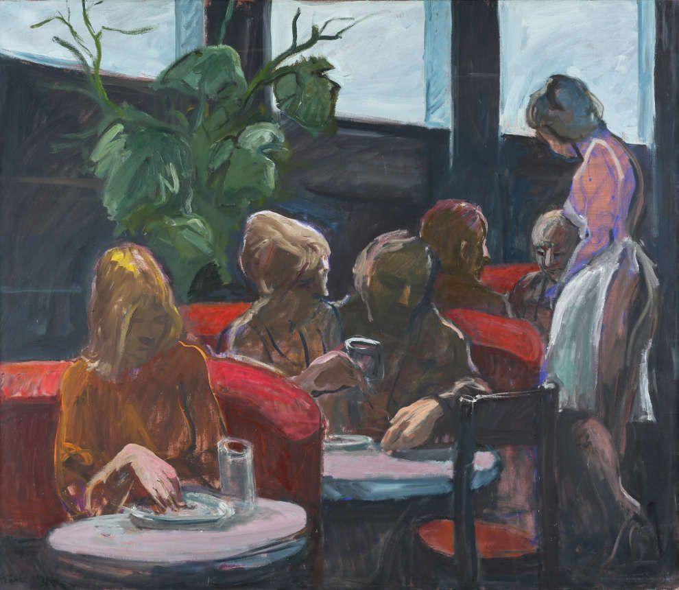 Georg Eisler, Espresso B, 1982, Öl/Lw (Museum der Moderne Salzburg, Schenkung des Georg und Alice Eisler-Stiftungsfonds für bildende Künstler und Komponisten, © Bildrecht, Wien 2017, Foto: Rainer Iglar)