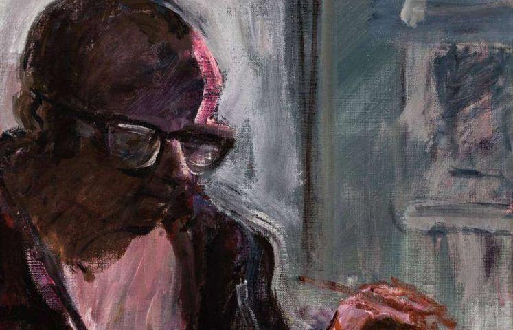Georg Eisler, Selbstporträt, Im Atelier, 1989, Öl auf Leinwand, 80x100cm (Privatbesitz © Ressler Kunst Auktionen, Foto: Klaus-Dieter Weber)