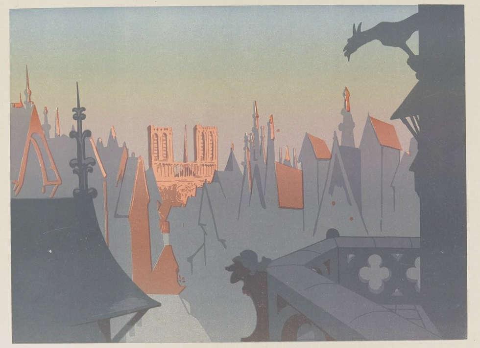 George Auriol, Paris, seine Herrlichkeit und sein Strahlen, Farblithografie, 1900 (Bibliothèque nationale de France)