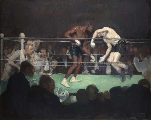 George Benjamin Luks, Boxing Match [Boxkampf], 1910, Öl auf Leinwand (San Marino, The Huntington Library, Art Collections, and Botanical Gardens. Gift of the Virginia Steele Scott Foundation)
