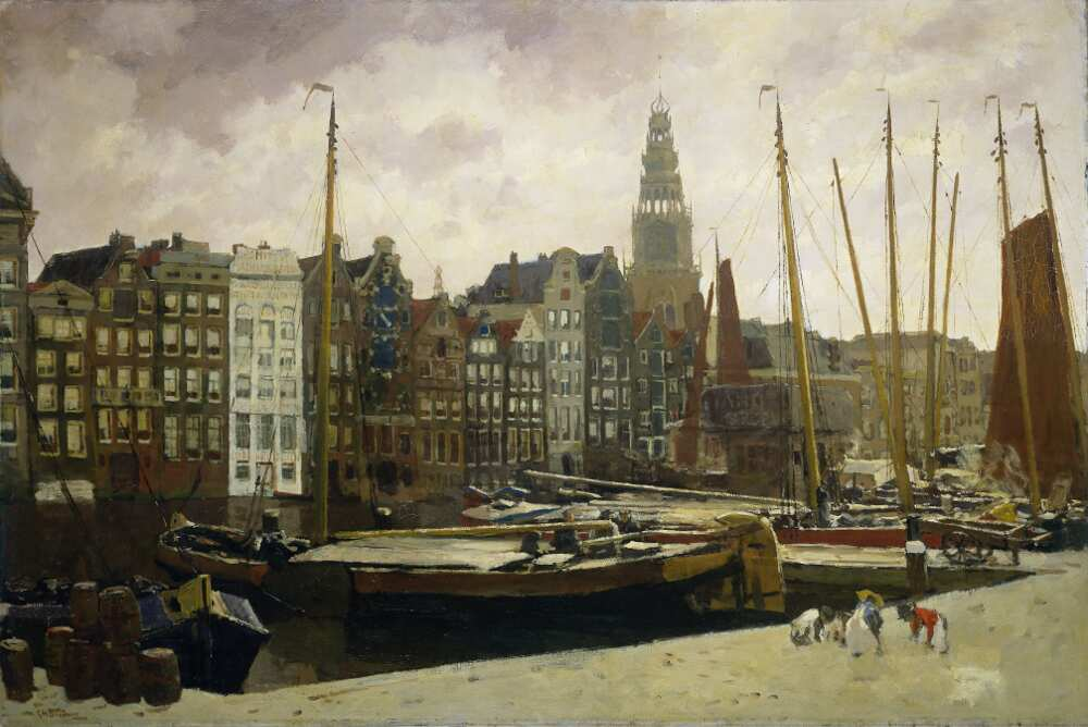 George Hendrik Breitner, Der Damrak, Amsterdam, 1903, Öl auf Leinwand, 100 x 150 cm (Rijksmuseum, Amsterdam)