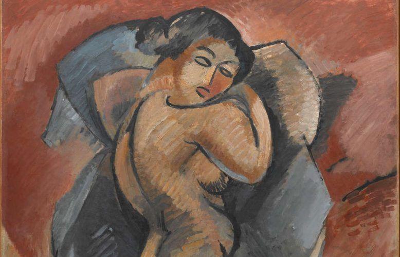 Georges Braque, Großer Akt, Detail, Winter 1907–Juni 1908, Öl/Lw, 140 x 100 cm (Centre Pompidou, Paris © Centre Pompidou Dist. Rmn-GP)