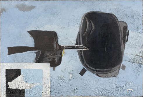 Georges Braque, À tire d'aile [Mit raschem Flügelschlag], 1956–1961 (Collection Centre Pompidou, Musée national d'art moderne, Paris Schenkung Madame Georges Braque, 1965 © VG Bild-Kunst, Bonn 2020 © Foto: Centre Pompidou, MNAM-CCI / Bertrand Prévost / Dist. RMN-GP)