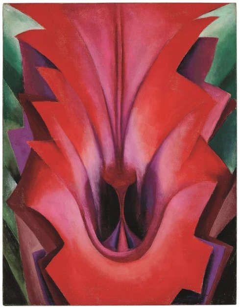 Georgia O'Keeffe, Inside Red Canna, 1919 (© Georgia O'Keeffe Museum/Adagp Paris 2021)