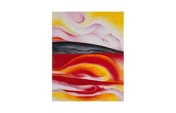 Georgia O'Keeffe, Red, Yellow and Black Streak, 1924