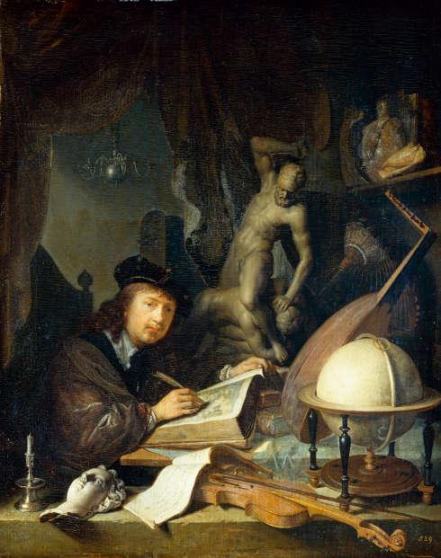 Gerard Dou, Der Maler in seiner Werkstatt, 1647 (Staatliche Kunstsammlungen Dresden, Gemäldegalerie Alte Meister)