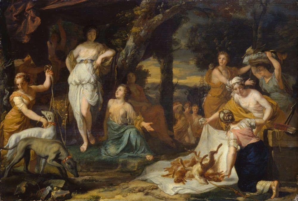 Gerard de Lairesse, Jagdbeute der Diana, um 1670 (Staatliches Museum Schwerin / Ludwigslust / Güstrow © bpk. Staatliches Museum Schwerin / Ludwigslust / Güstrow, Foto: Gabriele Bröcker)