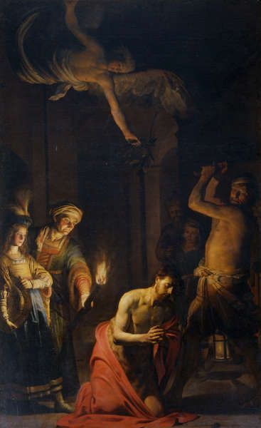 Gerard van Honthorst, Die Enthauptung von Johannes dem Täufer, 1617/18, Öl/Lw, 345 x 215 cm (© Santa Maria della Scala, Rom)