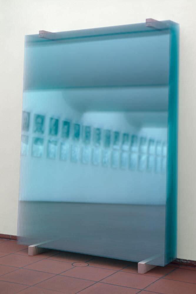 Gerhard Richter, 11 Scheiben, 2003, Installation, 259 x 180 cm (Museum Ludwig, Köln) © Gerhard Richter 2017 (221116) Foto: Rheinisches Bildarchiv Köln