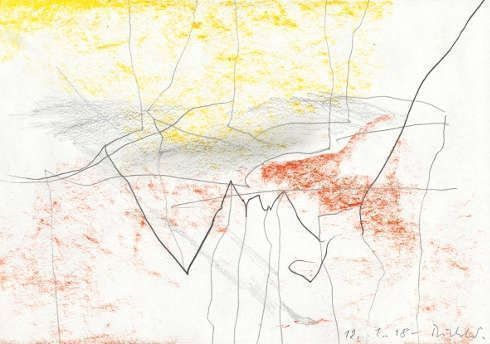 Gerhard Richter, 12.1.18, 2018 Bleistift und Farbstift auf Papier, 14,2 x 20,2 cm, Gerhard Richter Archiv, Staatliche Kunstsammlungen Dresden © Gerhard Richter 2020 (08022020)