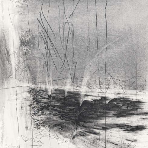 Gerhard Richter, 24.11.18, 2018, Bleistift auf Papier, 230 x 230 mm, Leihgabe aus Privatbesitz, Staatliche Kunstammlungen Dresden, Gerhard Richter Archiv © Gerhard Richter 2019 (25102019)