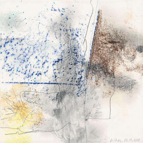 Gerhard Richter, 27.11.2018, 2018, Bleistift auf Papier, 230 x 230 mm, Leihgabe aus Privatbesitz, Staatliche Kunstammlungen Dresden, Gerhard Richter Archiv © Gerhard Richter 2019 (25102019)