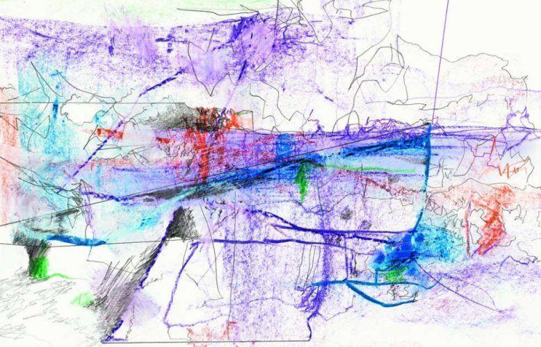Gerhard Richter, 28.2.2020, Detail, Bleistift und Ölkreide, 27 x 40 cm (22102020)