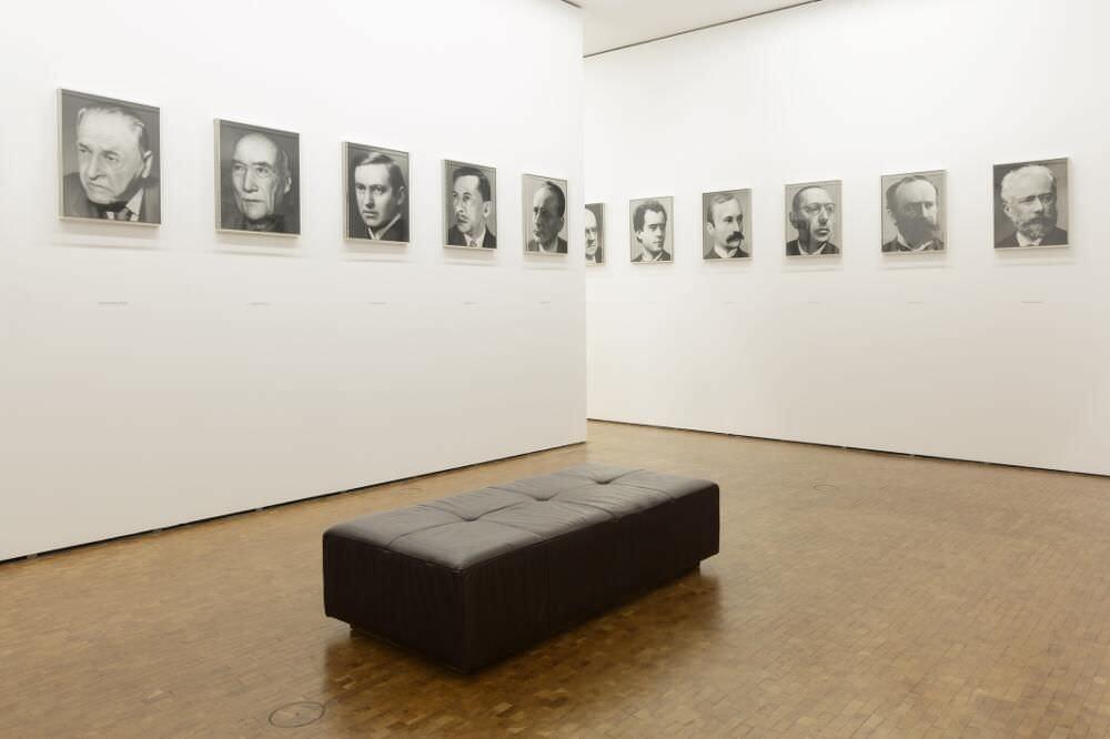 Gerhard Richter, 48 Portraits deutscher Geistesgrößen, 1971/72 Installationsansicht Museum Ludwig Köln, 2017 Foto: Rheinisches Bildarchiv Köln/ Britta Schlier