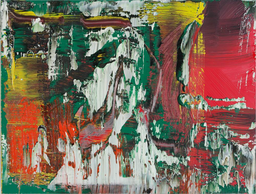 Gerhard Richter, Abstraktes Bild (946-5), 2016, Öl auf Aluminium, 27 x 35,5 cm © Gerhard Richter 2017 (221116)