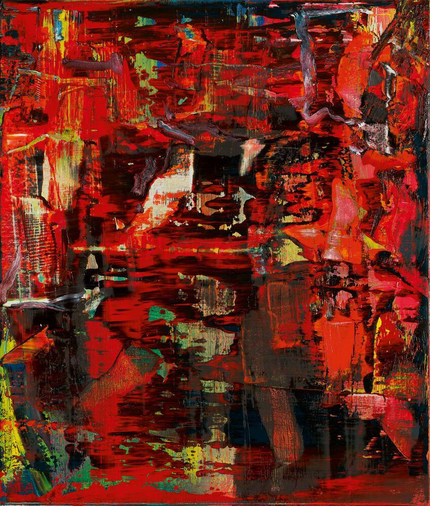 Gerhard Richter, Abstraktes Bild (947-8), 2016, Öl auf Leinwand, 50 x 60 cm © Gerhard Richter 2017 (221116)